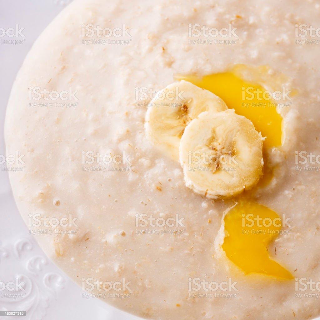 Porridge banana macro royalty-free stock photo