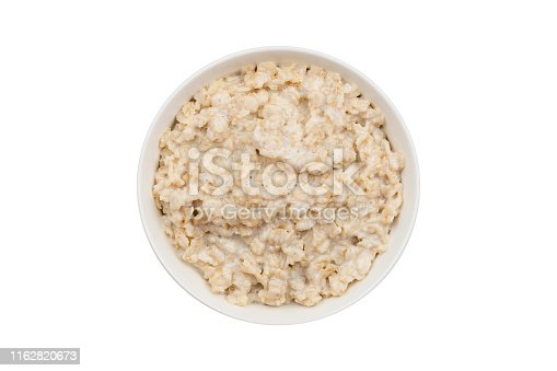 porridge oatmeal on a white background isolated