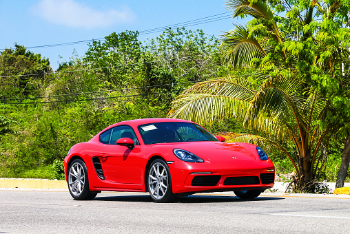 Porsche 718 Cayman Stock Photo - Download Image Now