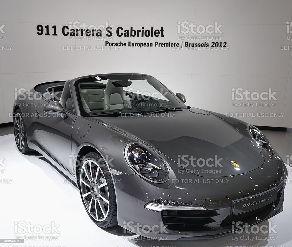 Porsche 911 Carrera S Convertible stock photo