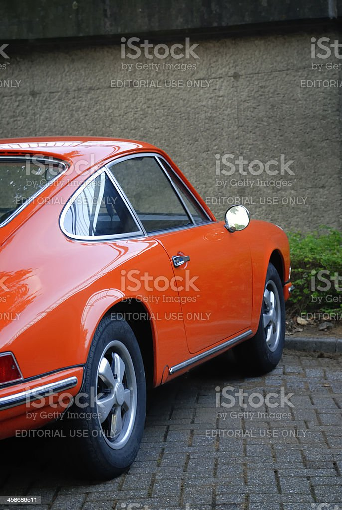 Porsche 911 classic sports car side view stock photo
