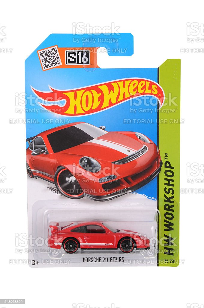 Porsche 911 GT3 RS Hot Wheels Diecast Toy Car stock photo