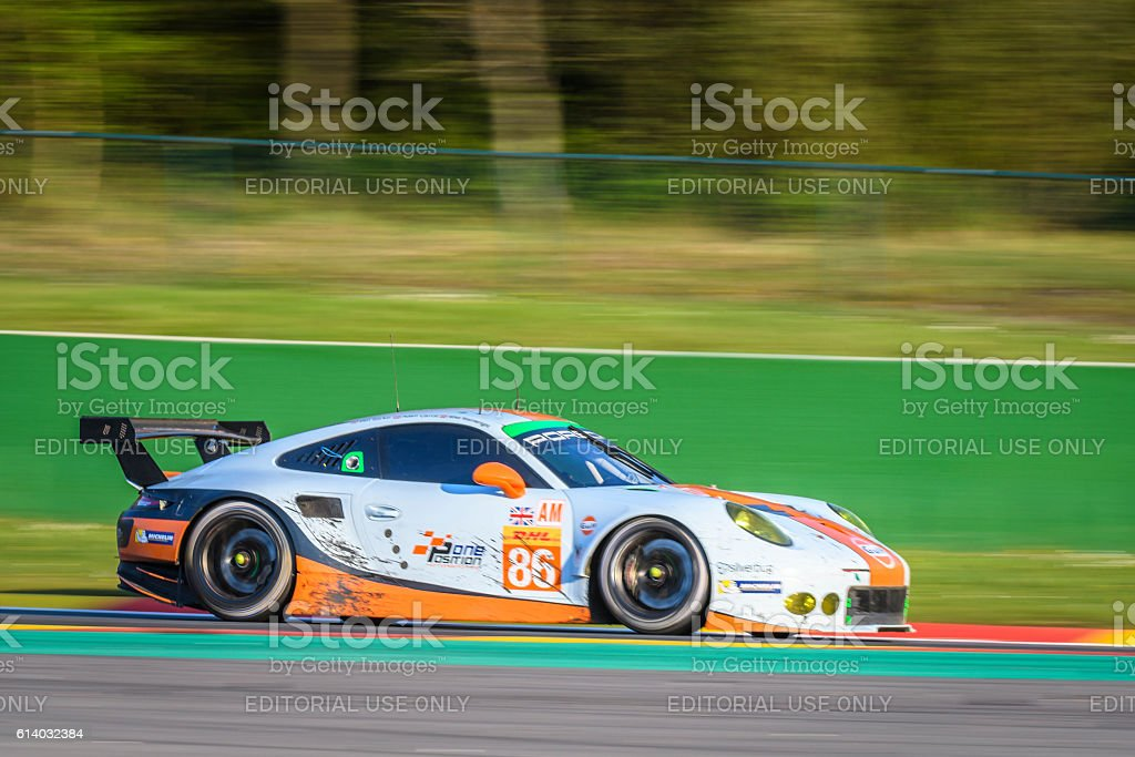 Porsche 911 Gulf Racing Race Car Royalty Free Stock Photo