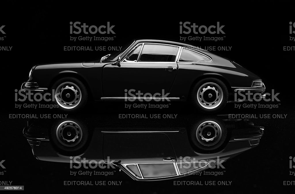 Porsche 911 Low Key In Black And White stock photo