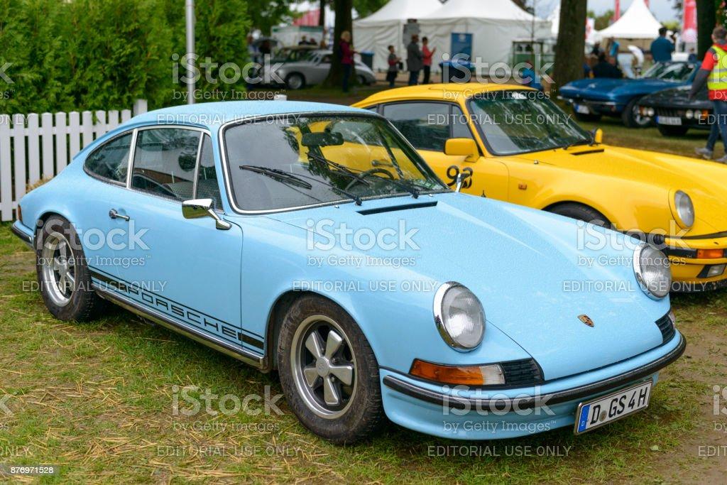 Porsche 911 T Vintage Classic Sports Car Front Stock Photo More