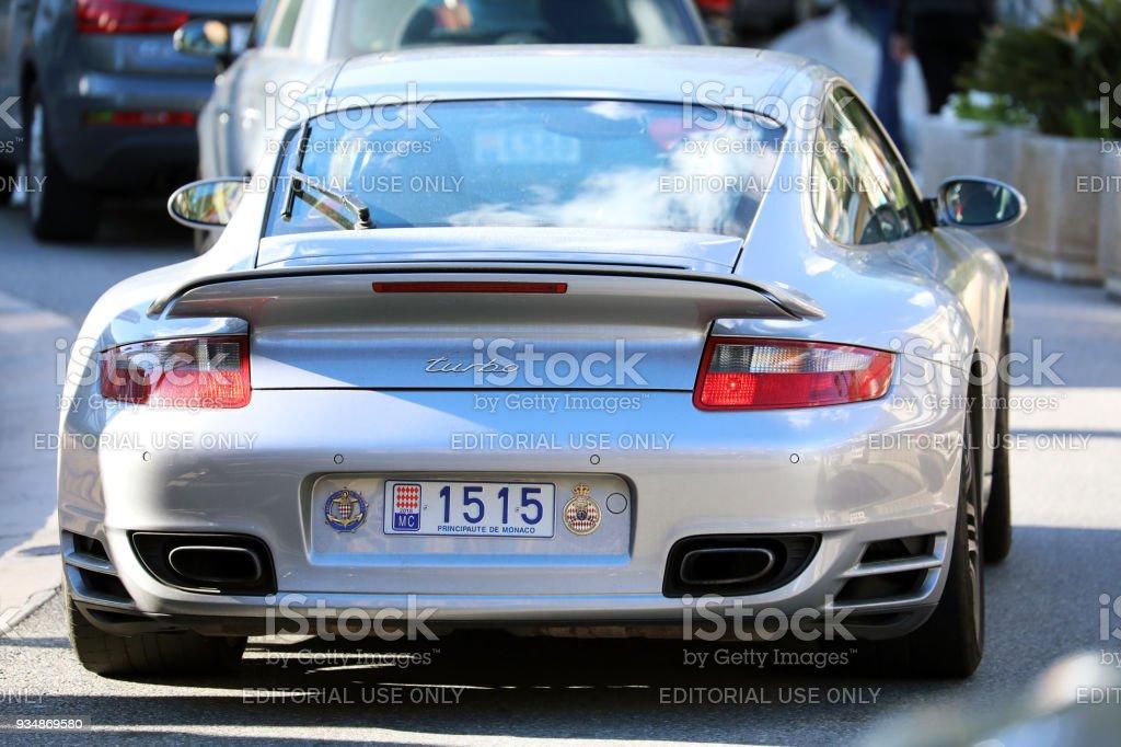 Porsche 911 Turbo in Monaco stock photo