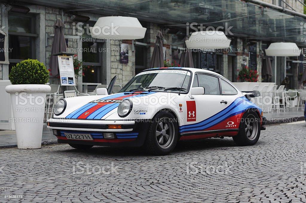 porsche 911 turbo martini racing colors stock photo
