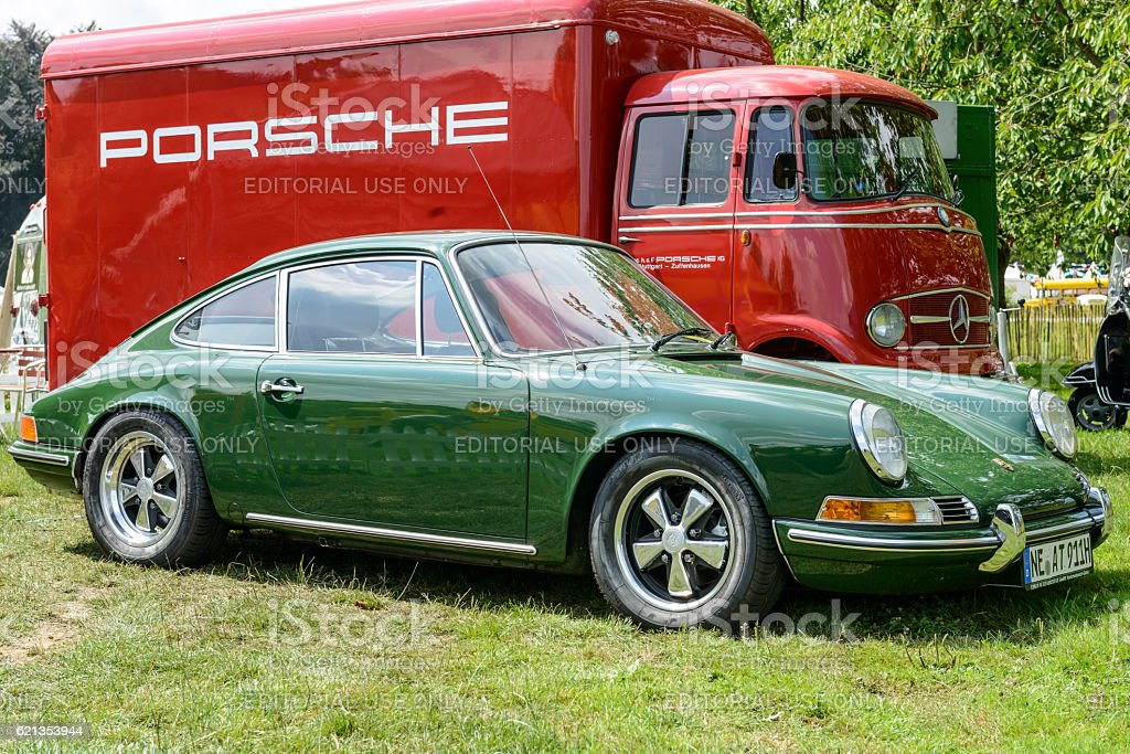 Porsche 911 vintage classic sports car stock photo