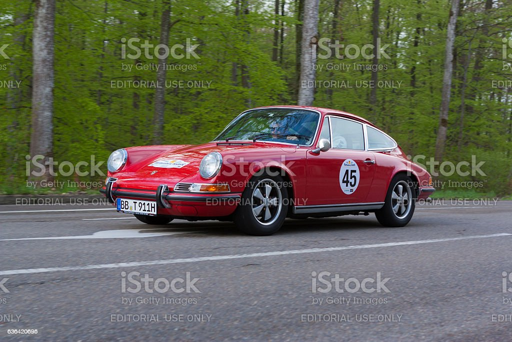 1971 Porsche 911T at the Wurttemberg Historic Rallye stock photo