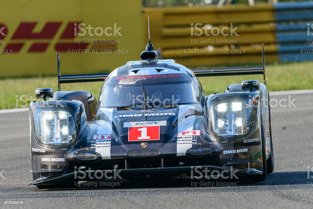 Porsche 919 Hybrid race car at Spa Francorcahmps stock photo