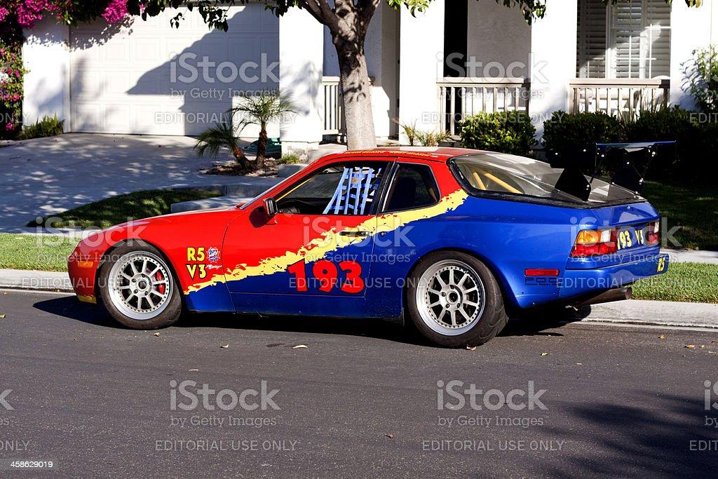 Porsche 924 Racing Car stock photo