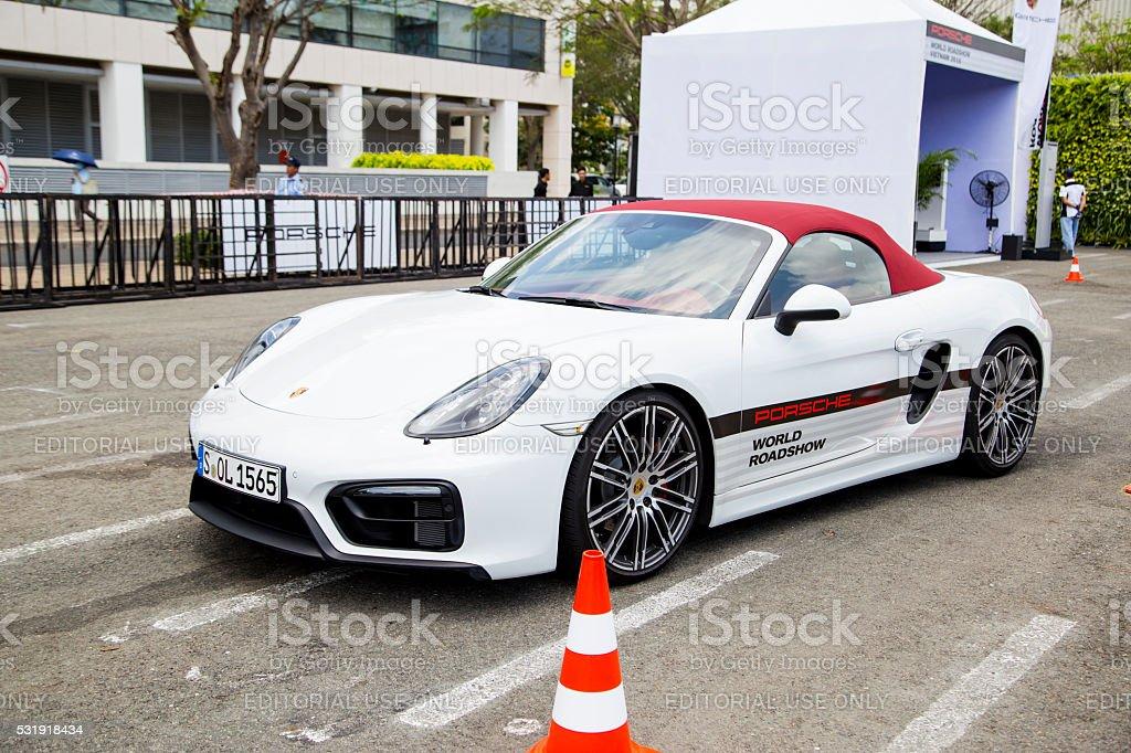 Porsche Boxster GTS sports car stock photo