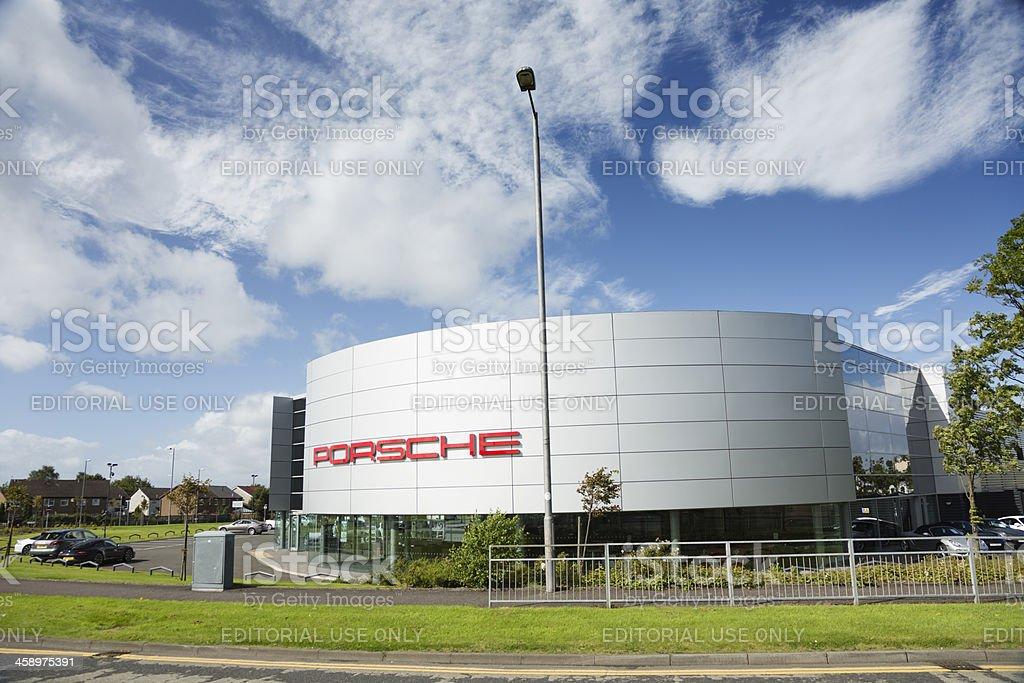 Porsche Car Dealership, Glasgow stock photo