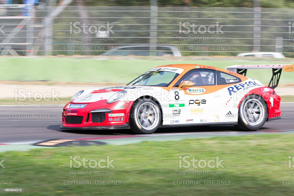 Porsche Carrera Cup Italia car racing stock photo