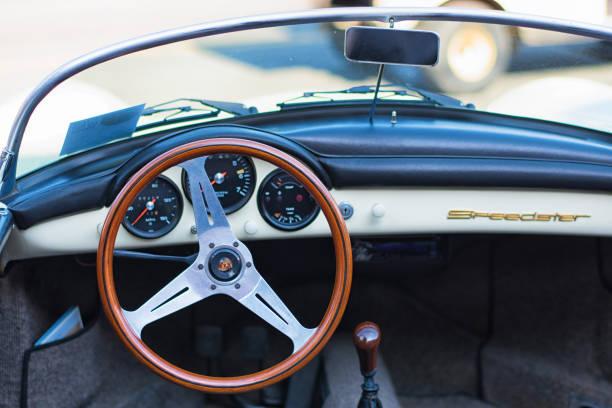 Porsche Carrera Speedster Vintage Classic stock photo