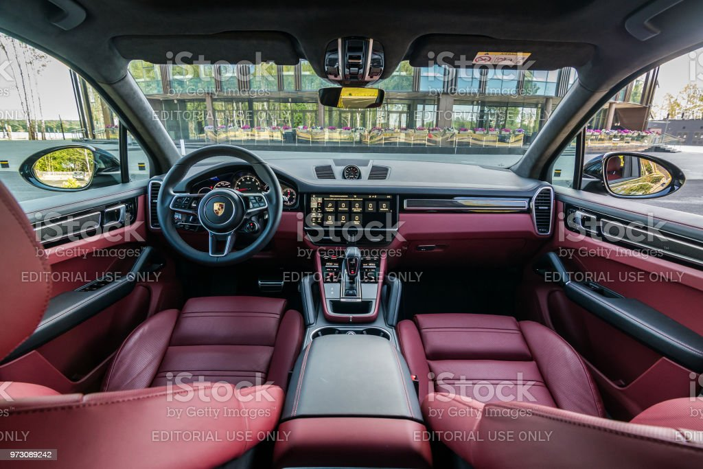 Porsche Cayenne S 2018 Interior Stock Photo Download Image Now Istock