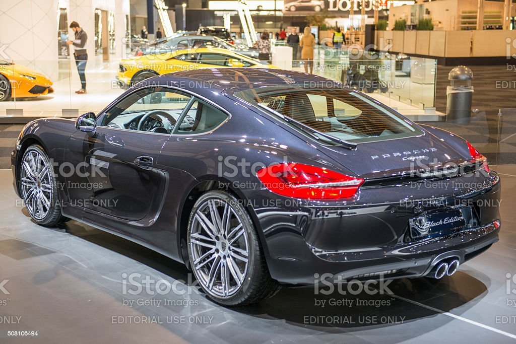 Porsche Cayman Black Edition stock photo