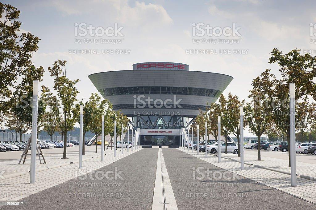 Porsche Center Leipzig, Germany royalty-free stock photo