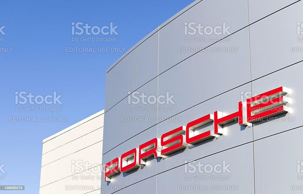 Porsche Dealership stock photo