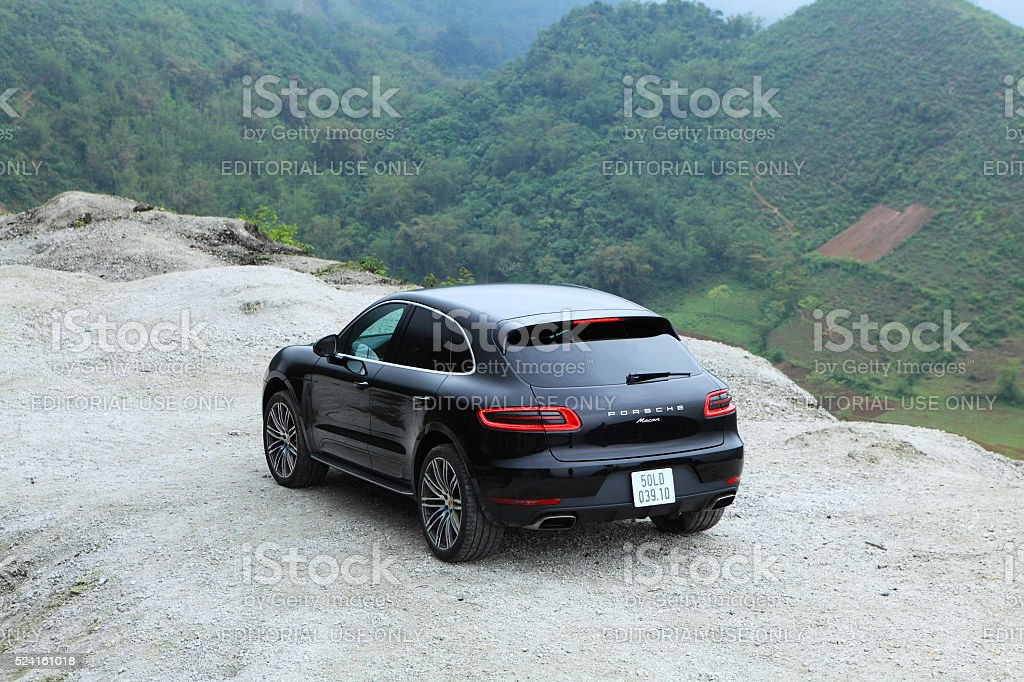 Porsche Macan 2015 car stock photo