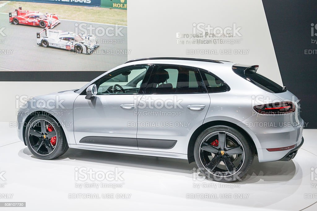 Porsche Macan GTS crossover SUV stock photo