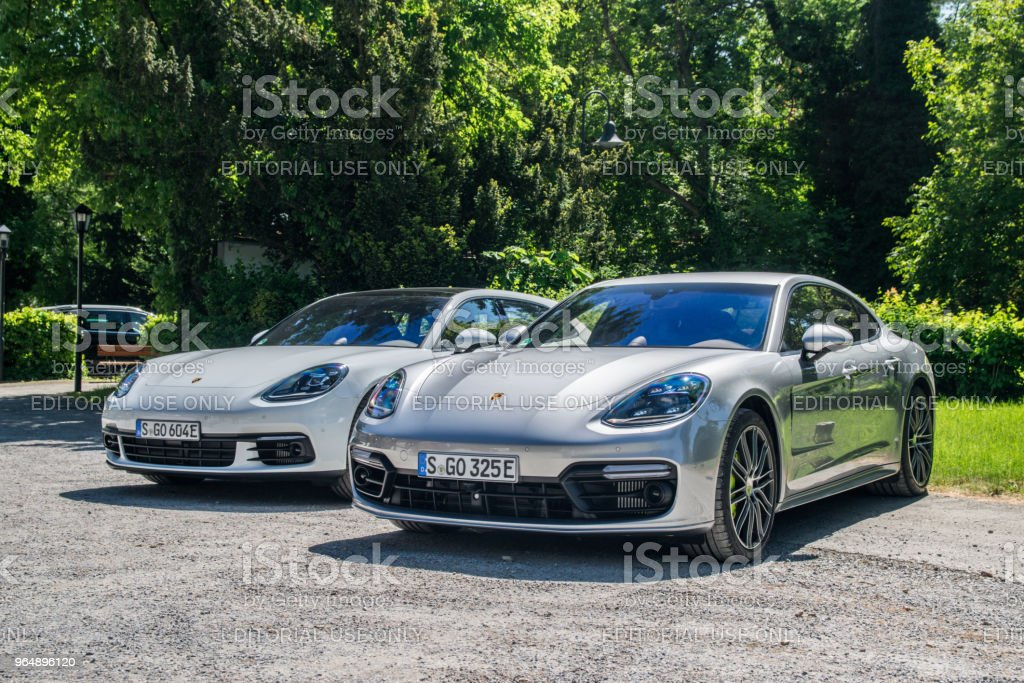 Porsche Panamera 4 e-hybrid royalty-free stock photo