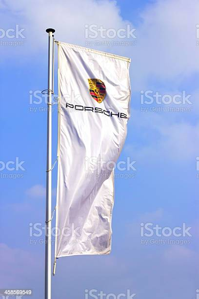 Porsche sports car producer logo on a flag picture id458569549?b=1&k=6&m=458569549&s=612x612&h=y86yq055xvx9ru8nq5rdsk5uq 7yfwpmfqvwfuy re4=