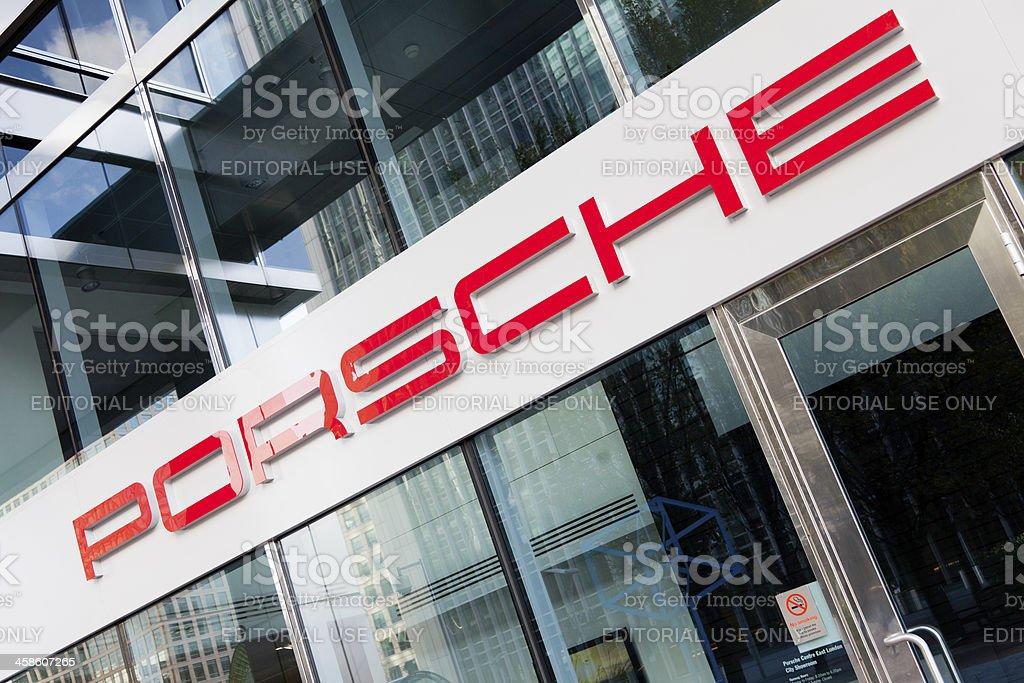 Porsche store in London stock photo