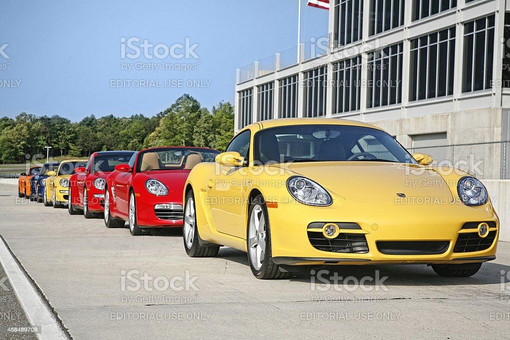 Porsches royalty free stockfoto
