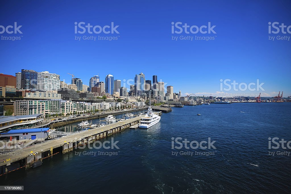 Port 66 Seattle royalty-free stock photo