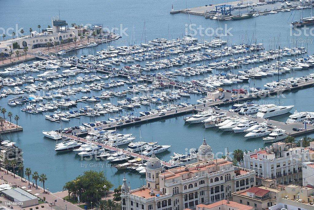 Port, Alicante, Spain royalty-free stock photo