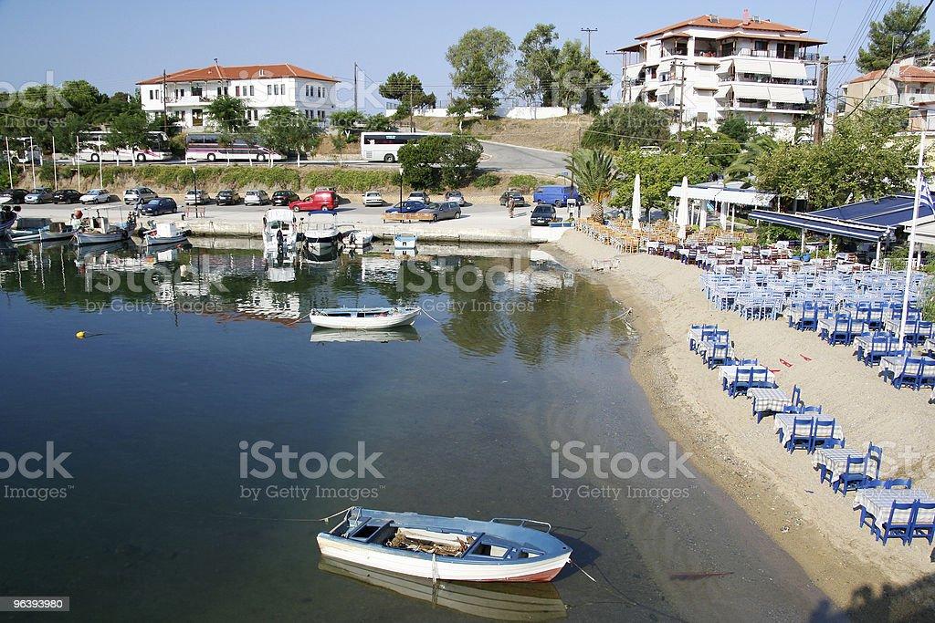 Port and Beach Restaurant - Royalty-free Beach Stock Photo