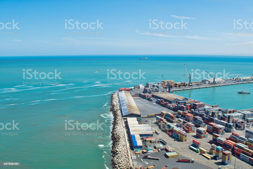 Port and sea of Arica foto royalty-free