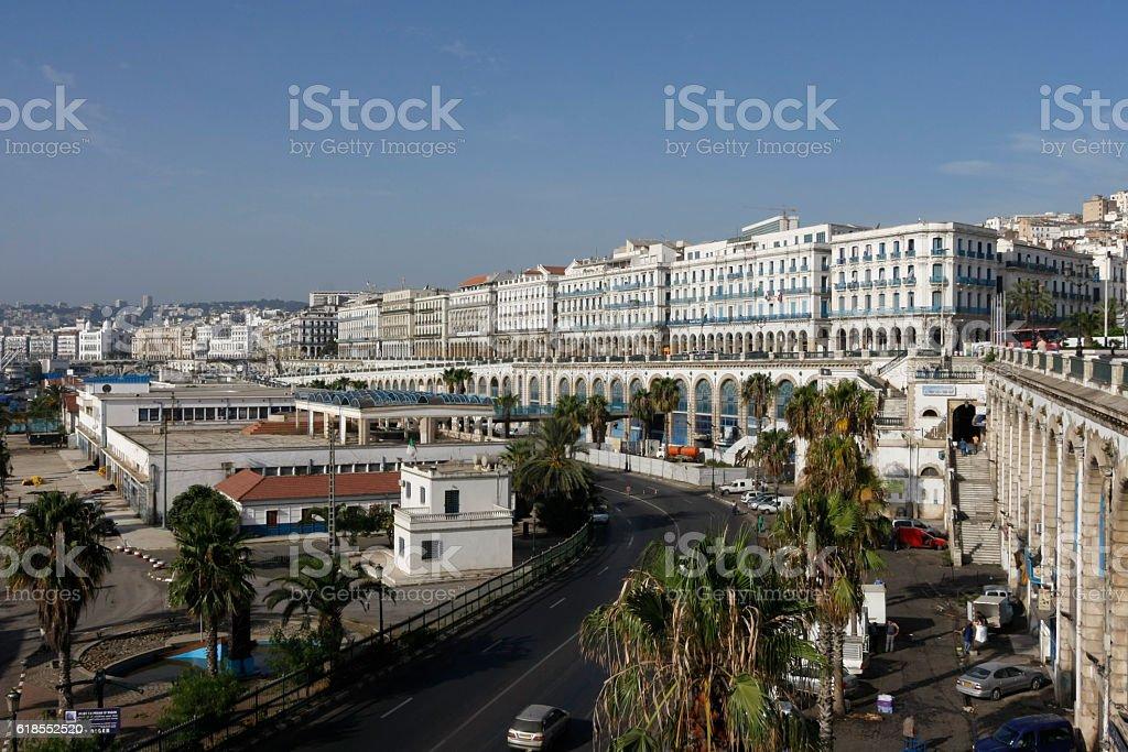 Port area of Algiers, Algaria stock photo