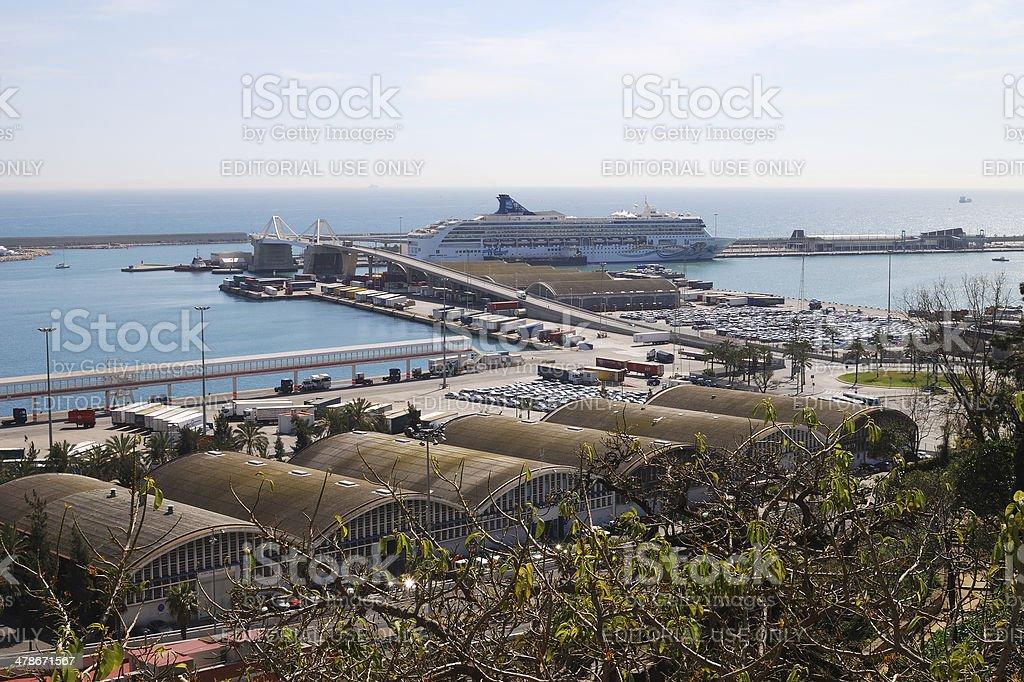 Port at Barcelona. Catalonia. Spain royalty-free stock photo