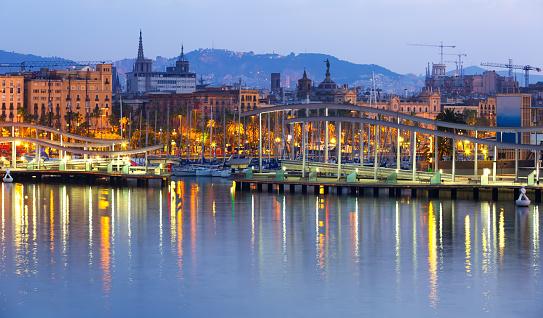 port at Barcelona in sunrise. Spain