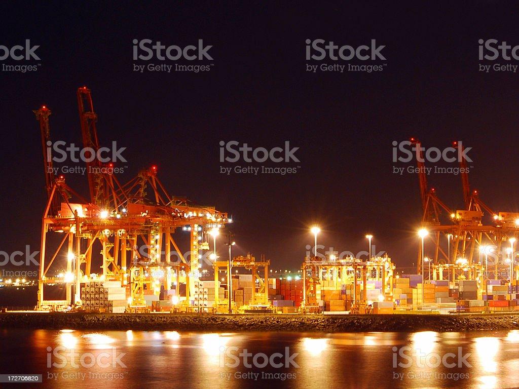 Port at night royalty-free stock photo