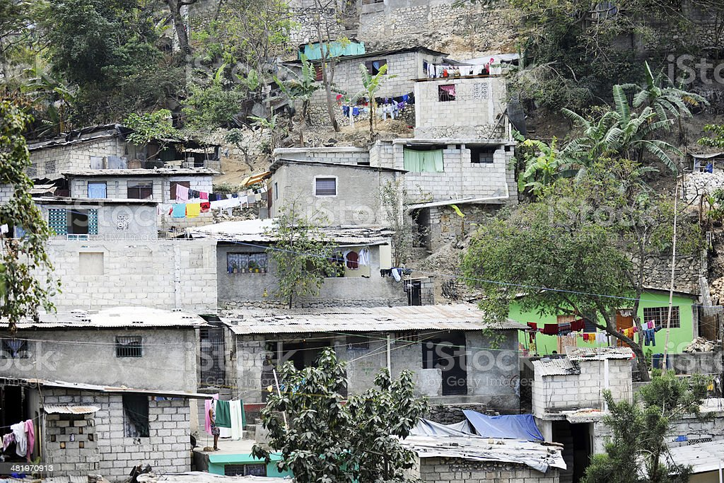 Port Au Prince's Stacked Housing stock photo