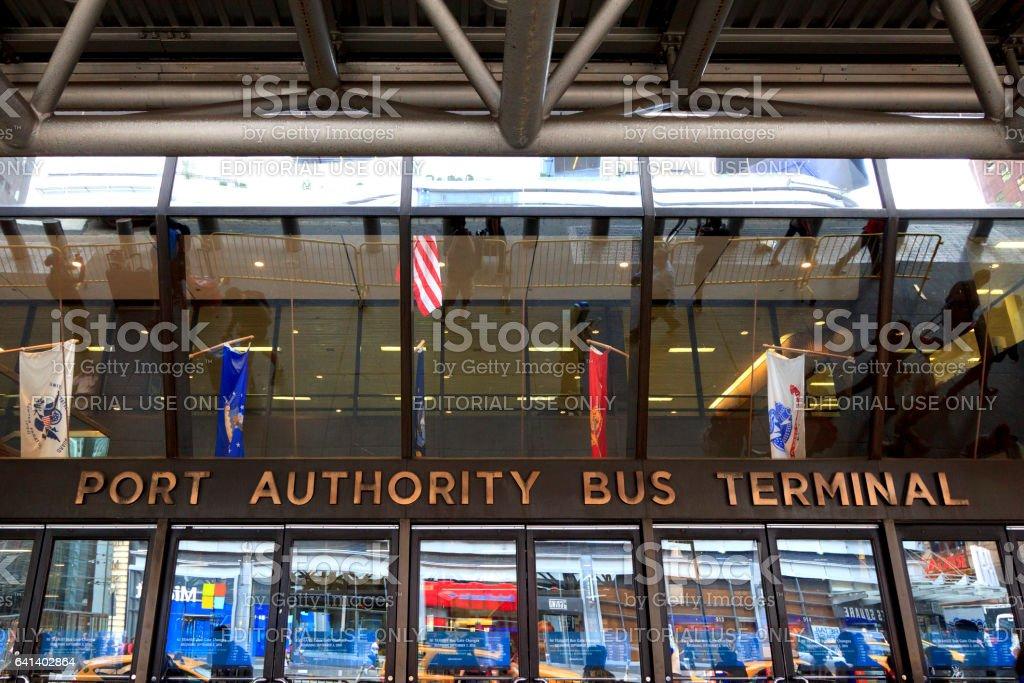 Port Authority Bus Terminal stock photo