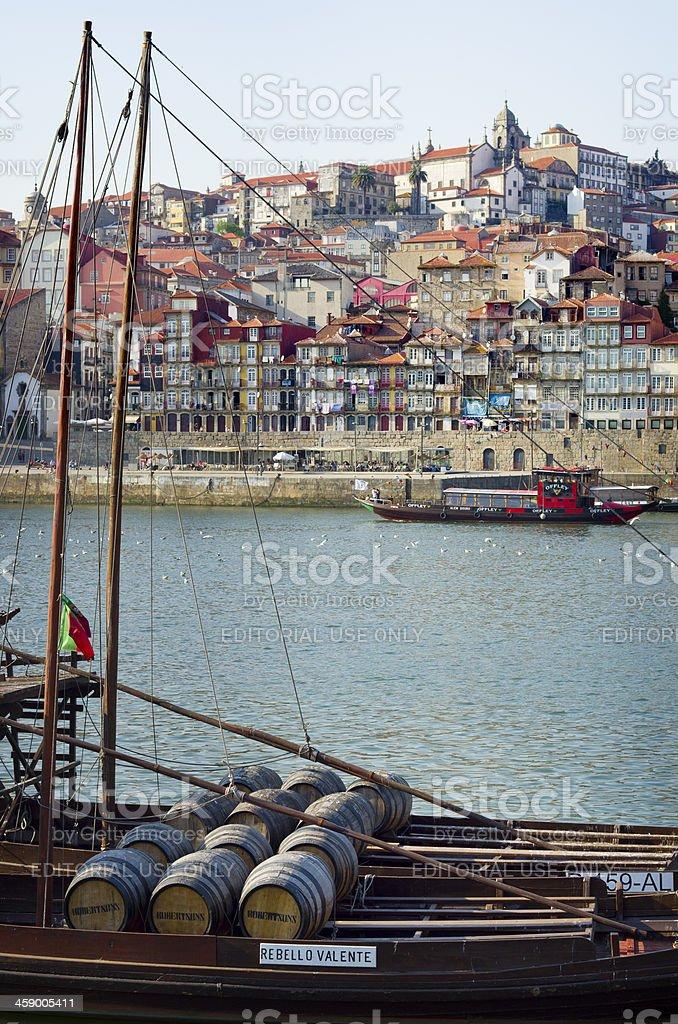 Port Barrels in Porto royalty-free stock photo