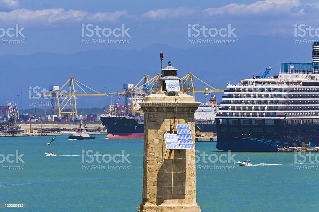 port beacon royalty-free stock photo