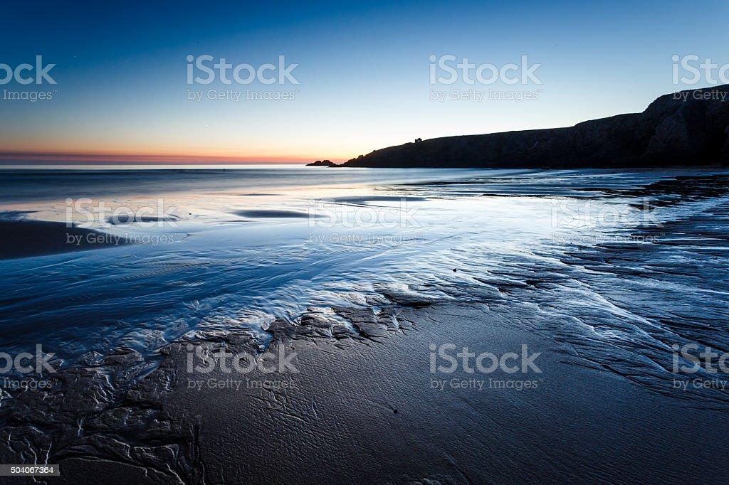 Port Blanc beach, Quiberon, Bretagne stock photo