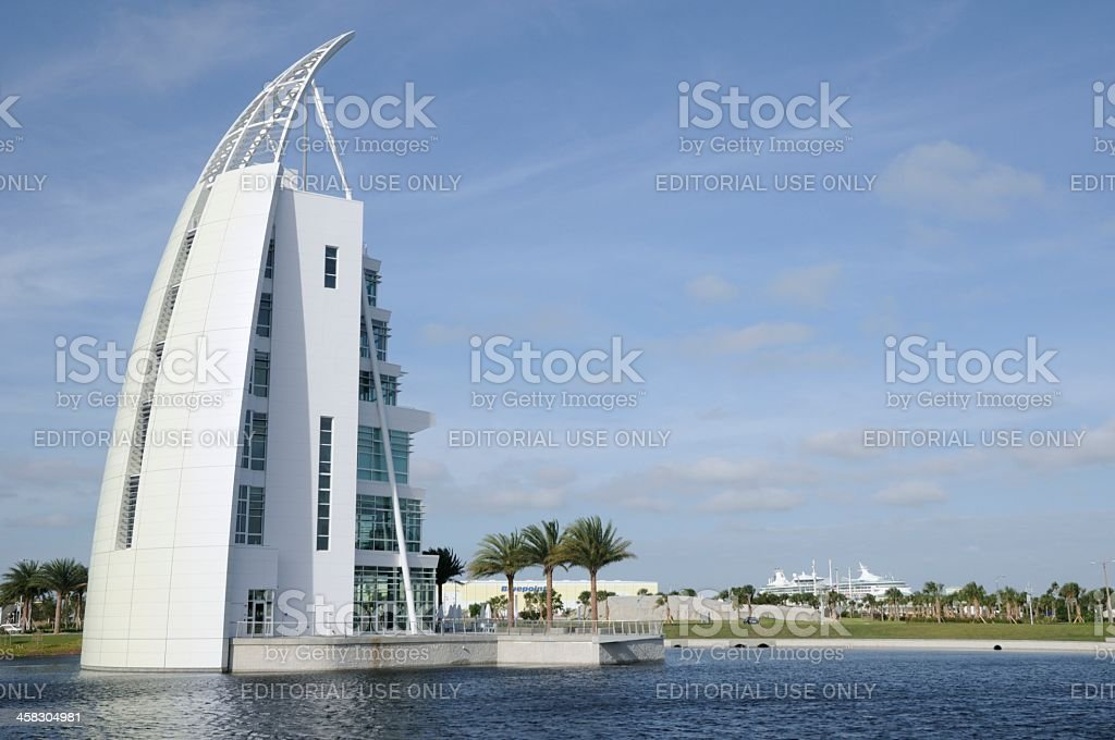 Port Canaveral Exploration Tower stock photo