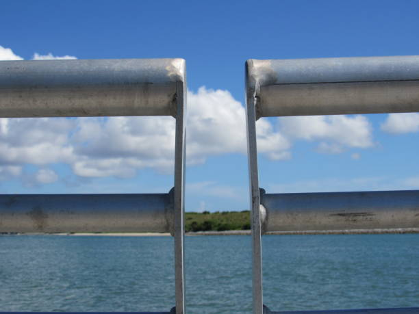 port canaveral through railing - dianna dann narciso stock pictures, royalty-free photos & images