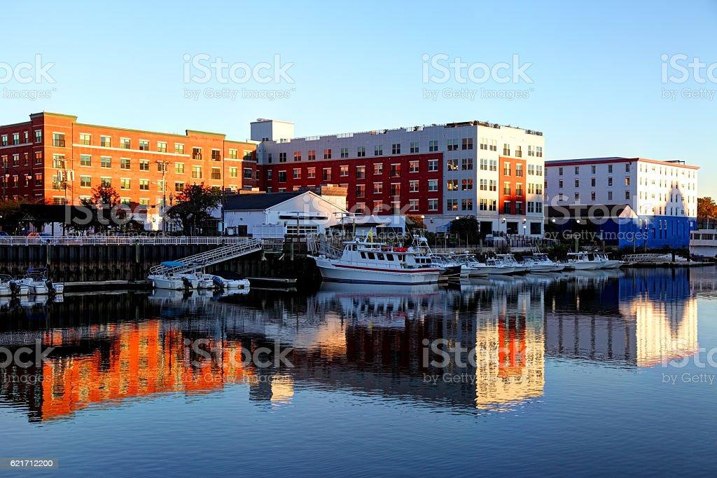 Port Chester, New York stock photo