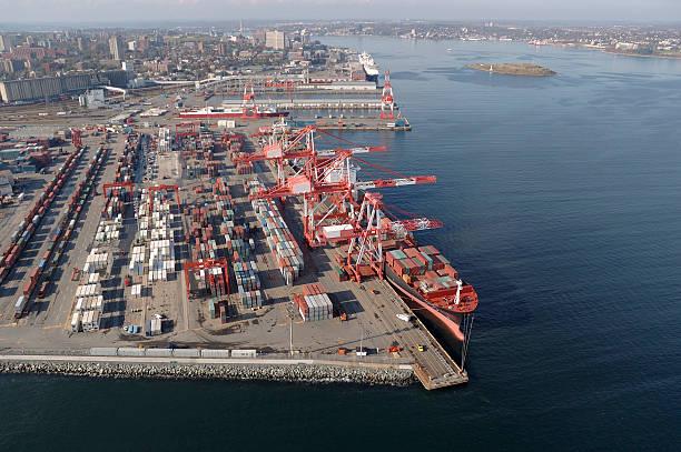Port City of Halifax. stock photo