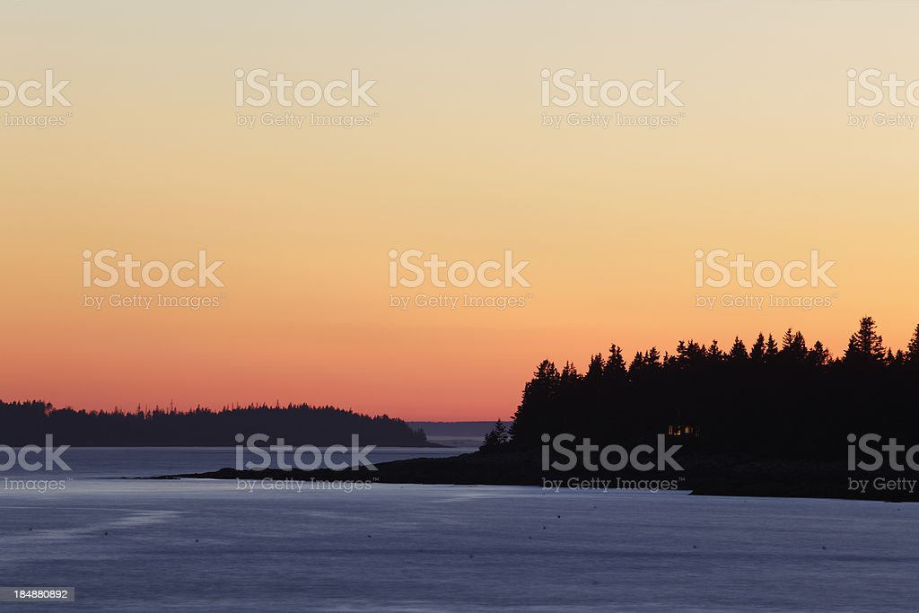 Port Clyde Sunset royalty-free stock photo