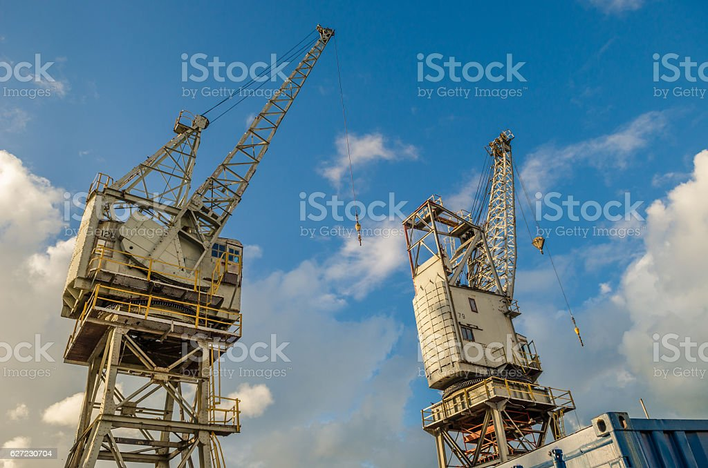 Port cranes Cape town South Africa stock photo