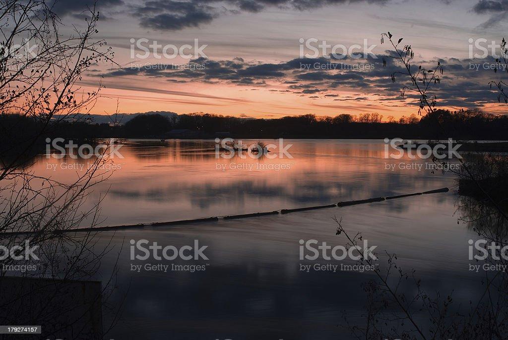 Port Dalhousie Sunset stock photo