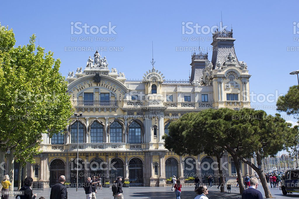 Port de Barcelona stock photo